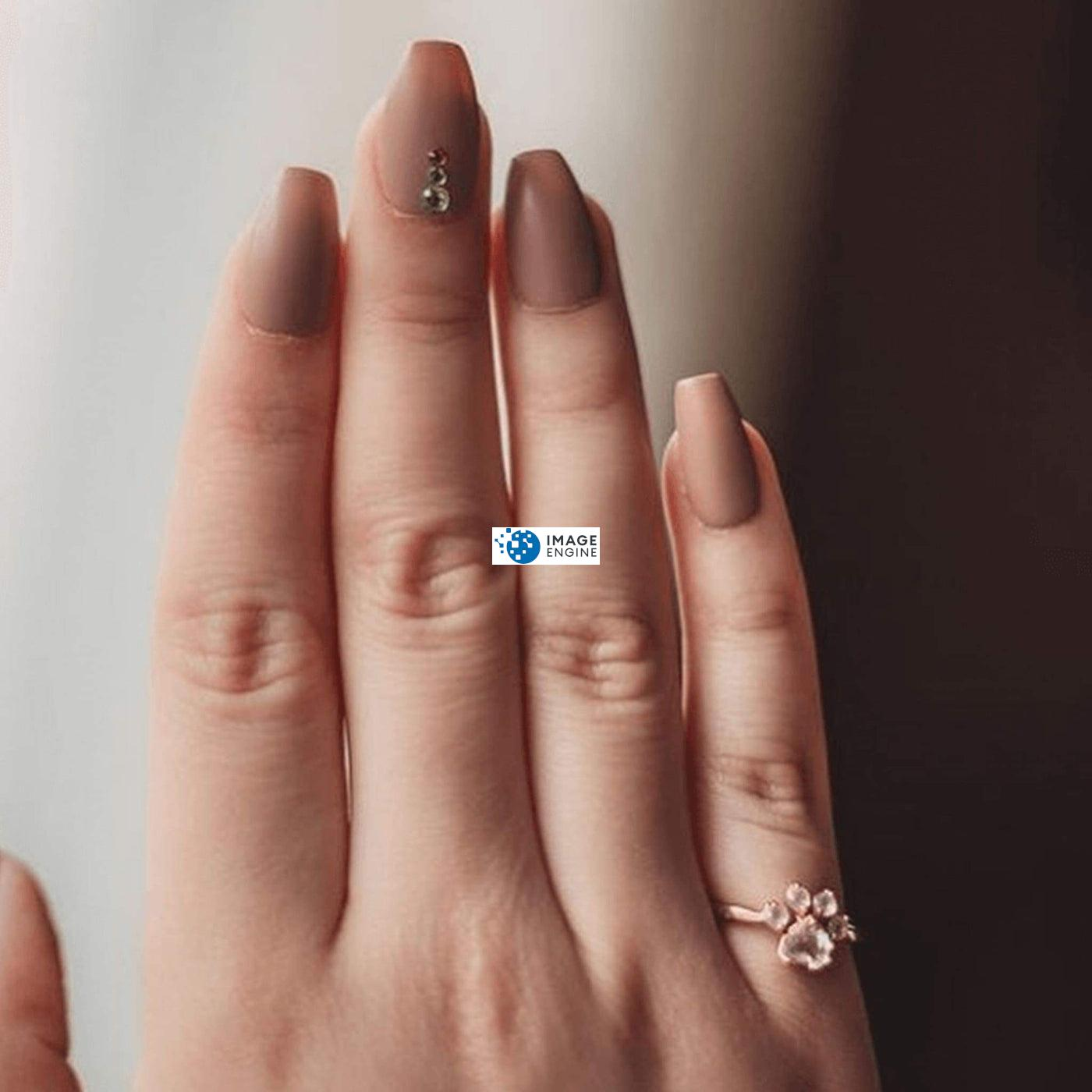 Bella Paw Rose Quartz Ring - On Pinky Finger - 18K Rose Gold Vermeil