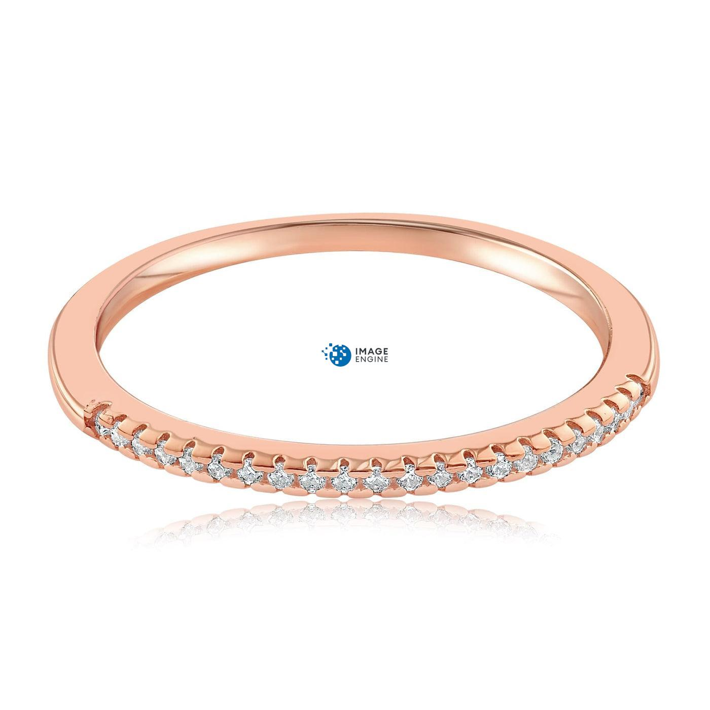 Brianna Bezel Ring - Front View Facing Down - 18K Rose Gold Vermeil