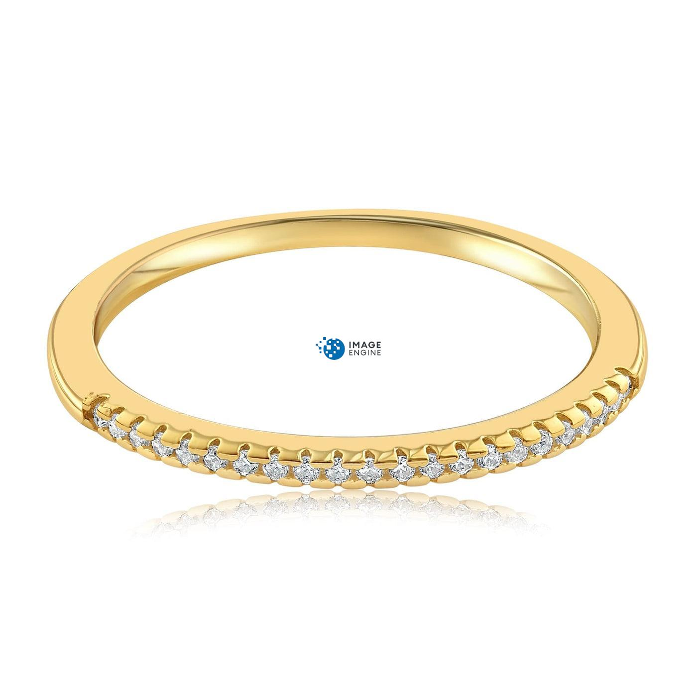 Brianna Bezel Ring - Front View Facing Down - 18K Yellow Gold Vermeil