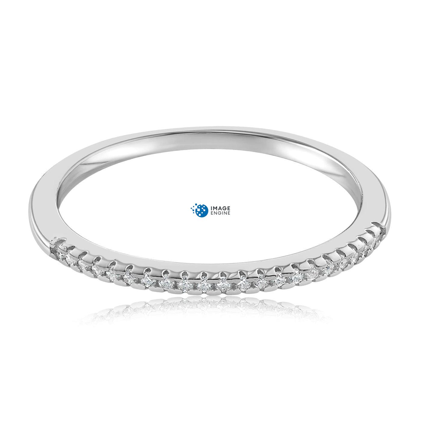 Brianna Bezel Ring - Front View Facing Down - 925 Sterling Silver