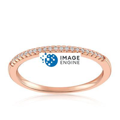 Brianna Bezel Ring - Front View Facing Up - 18K Rose Gold Vermeil