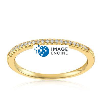 Brianna Bezel Ring - Front View Facing Up - 18K Yellow Gold Vermeil Featured