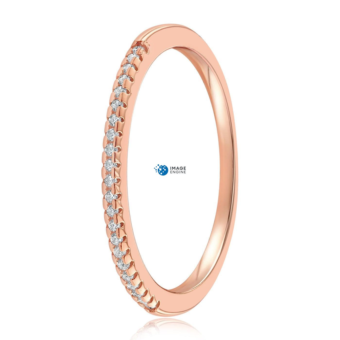 Brianna Bezel Ring - Side View - 18K Rose Gold Vermeil