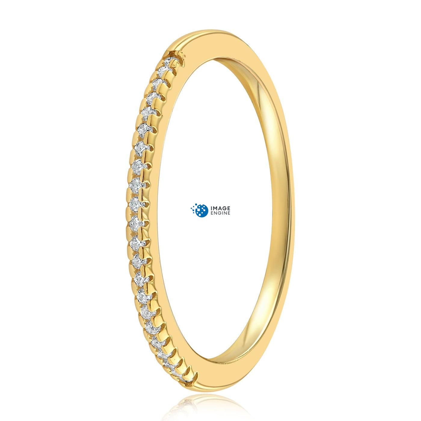 Brianna Bezel Ring - Side View - 18K Yellow Gold Vermeil