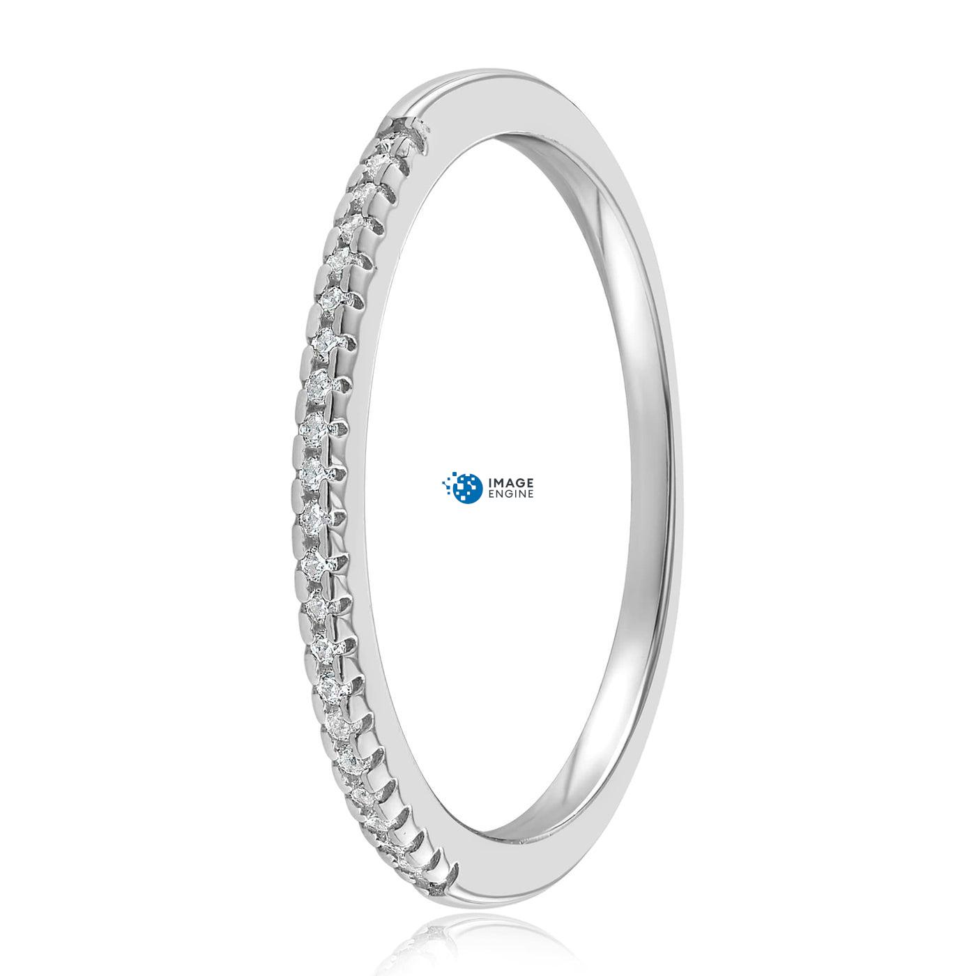 Brianna Bezel Ring - Side View - 925 Sterling Silver