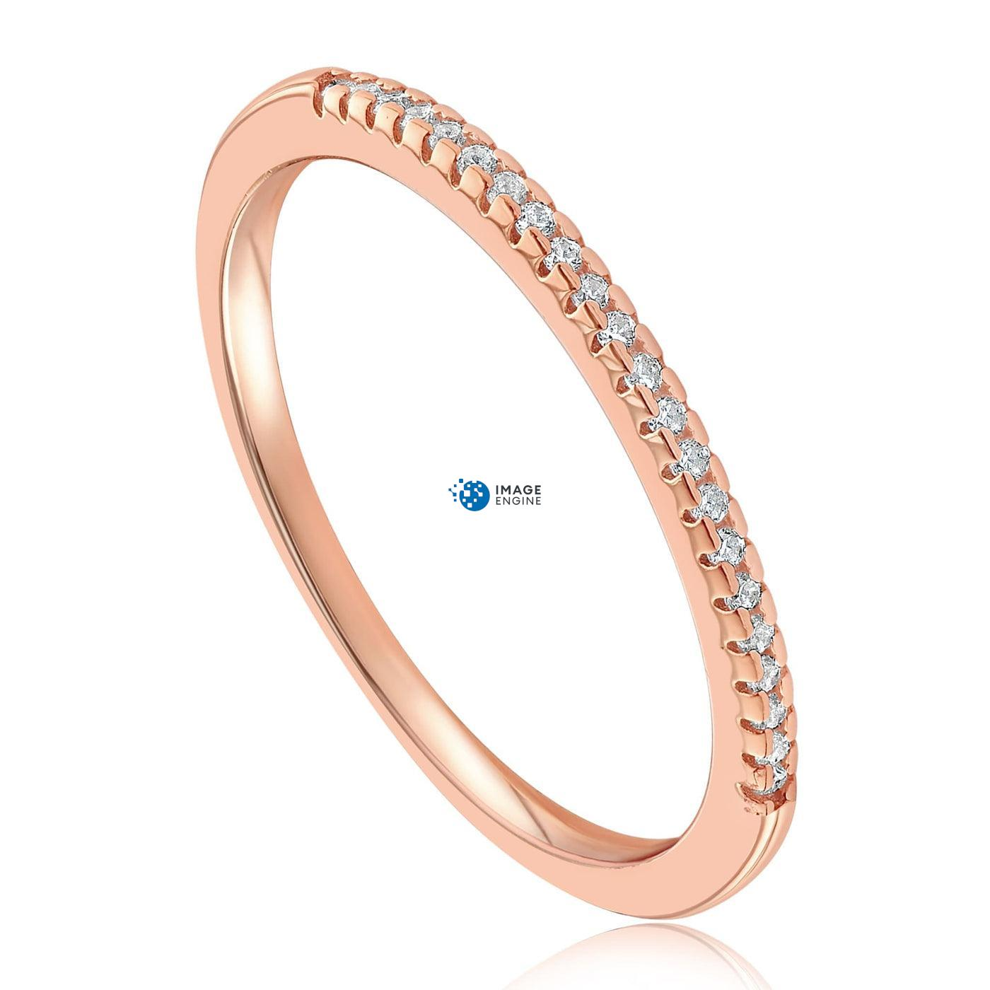 Brianna Bezel Ring - Three Quarter View - 18K Rose Gold Vermeil