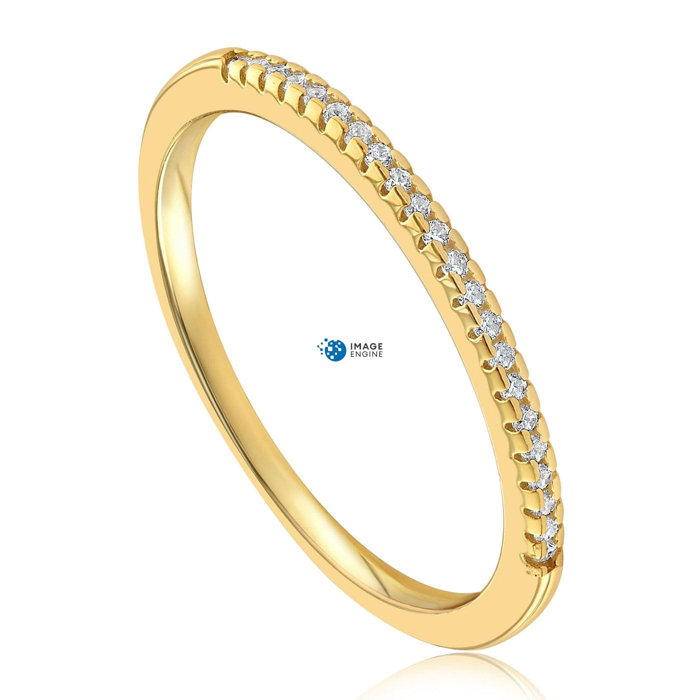 Brianna Bezel Ring - Three Quarter View - 18K Yellow Gold Vermeil