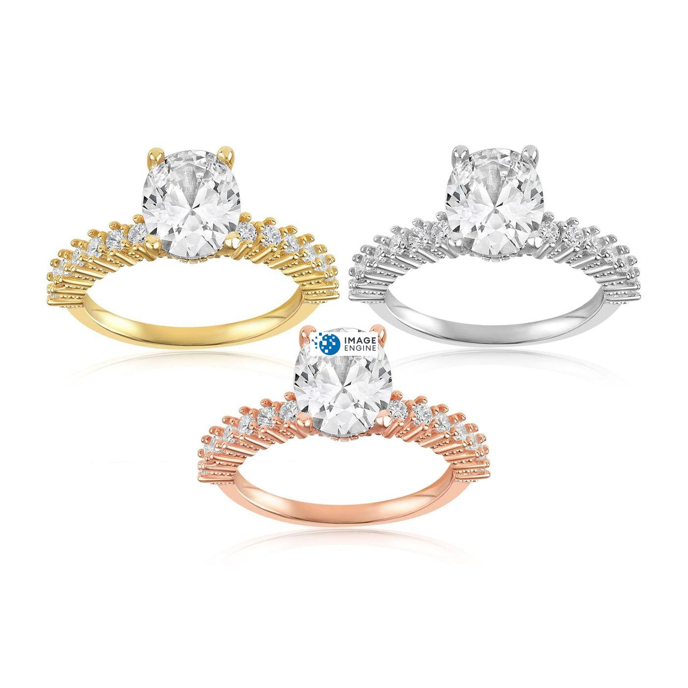 Cara Zirconia Ring - Side by Side - Collection