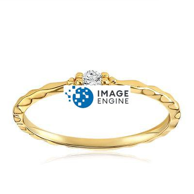 Charisse Vintage Ring - Front View Facing Up - 18K Yellow Gold Vermeil Featured