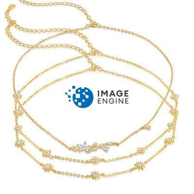 Clementine 3 in 1 Choker Necklace - 18K Yellow Gold Vermeil Featured