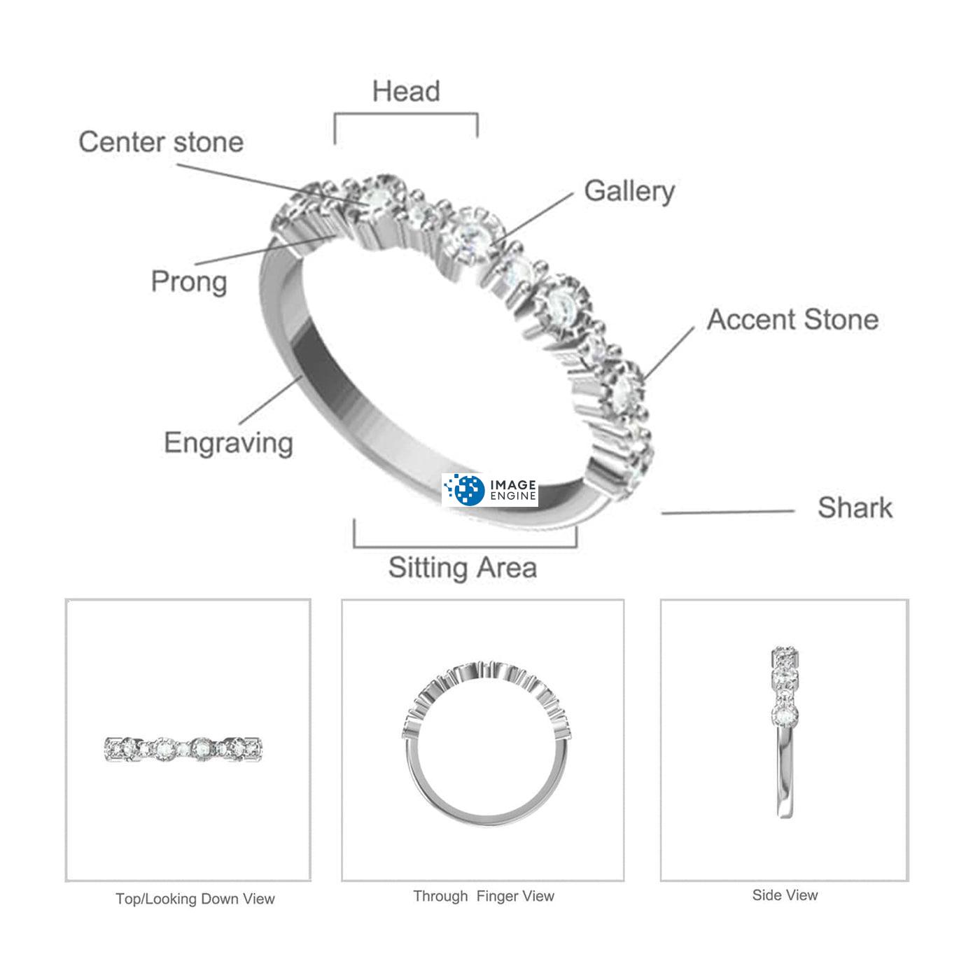 Debra Dots Opal Ring - Parts - Diagram