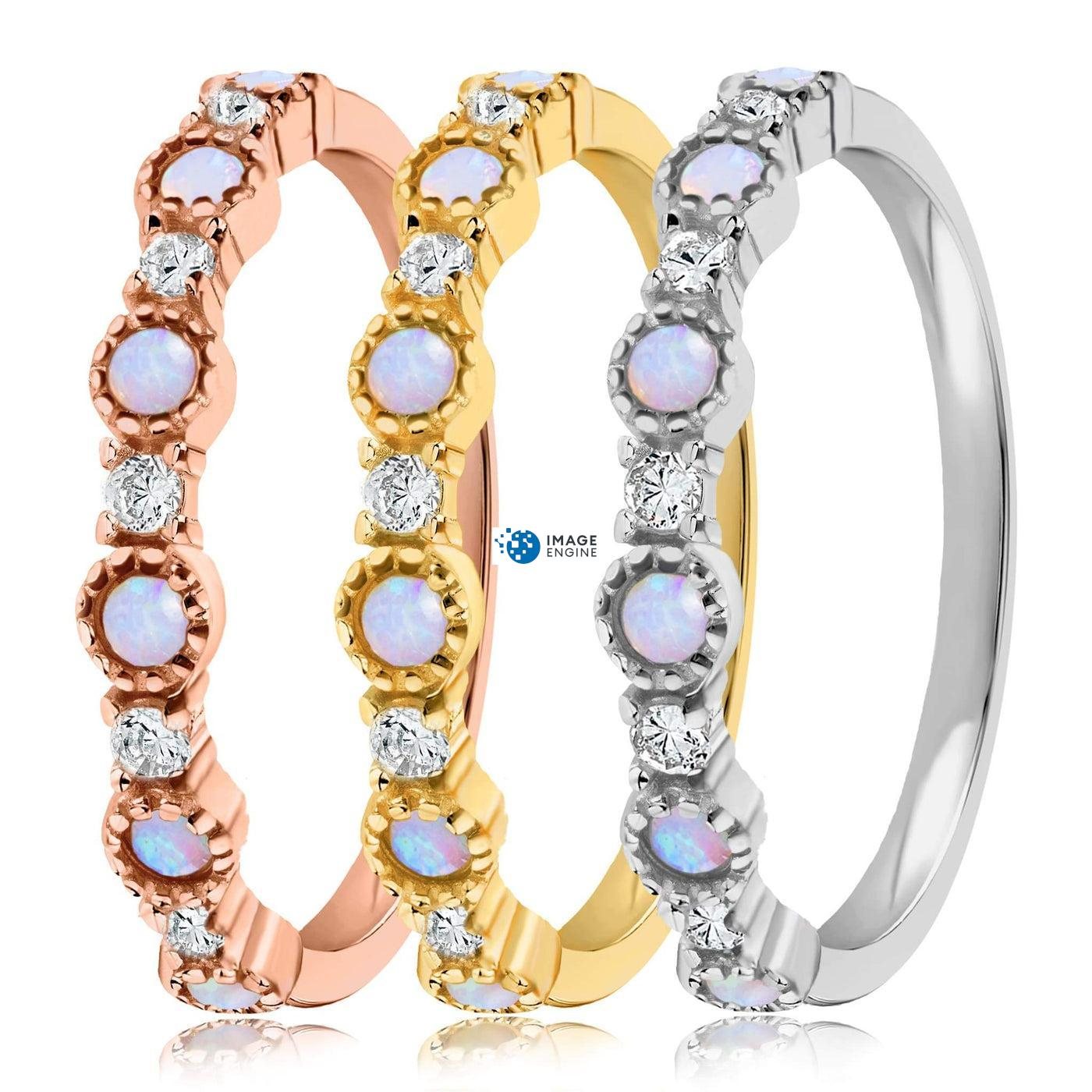 Debra Dots Opal Ring - Side by Side - Collection