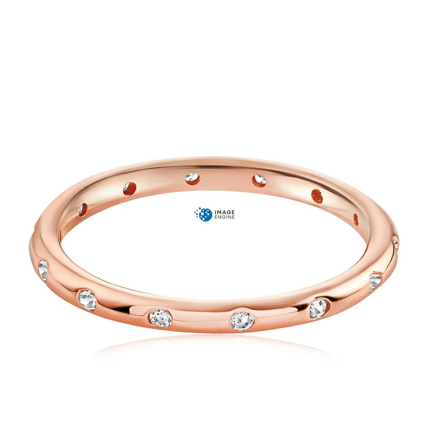Droplet Ring - Front View Facing Down - 18K Rose Gold Vermeil