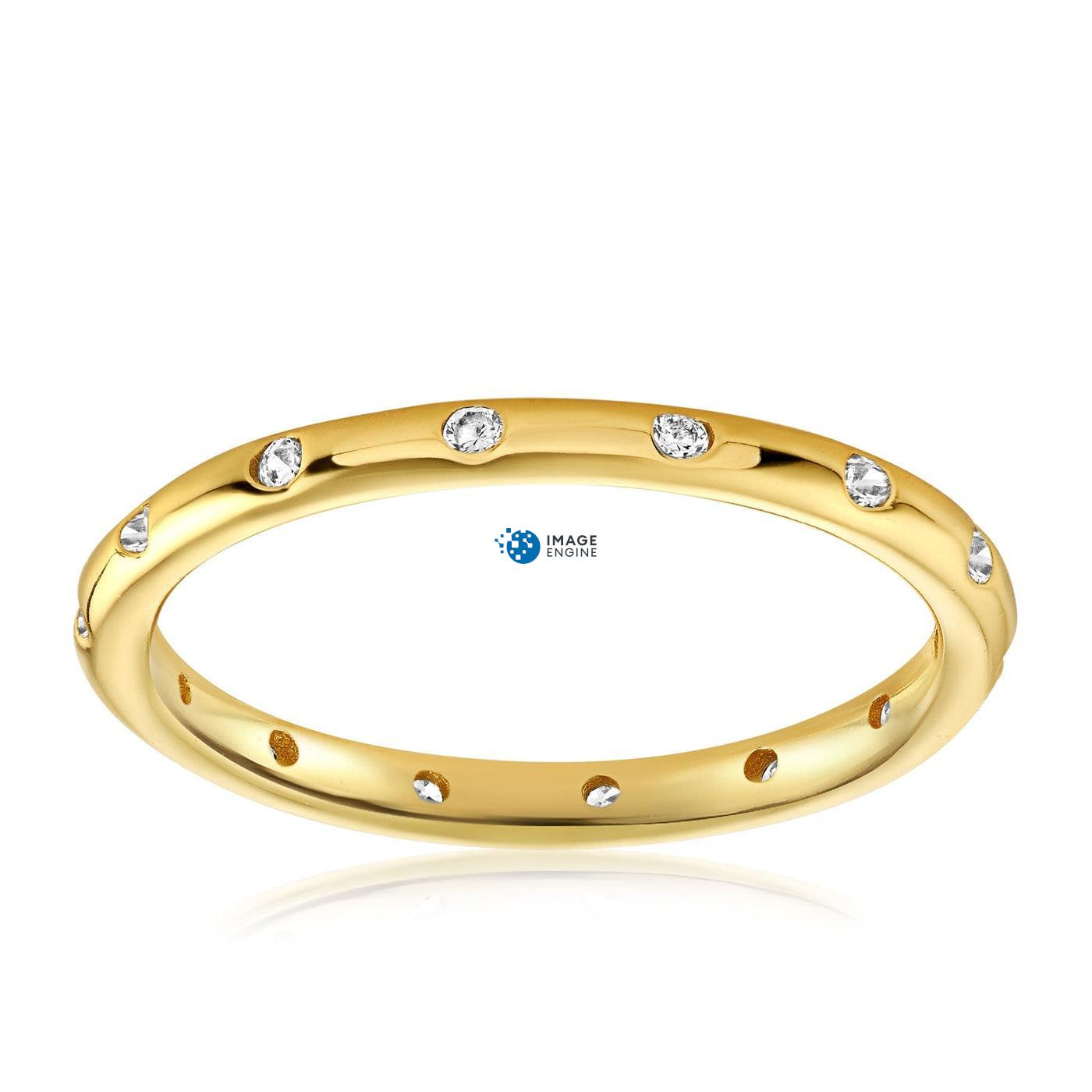 Droplet Ring - Front View Facing Up - 18K Yellow Gold Vermeil - Featured