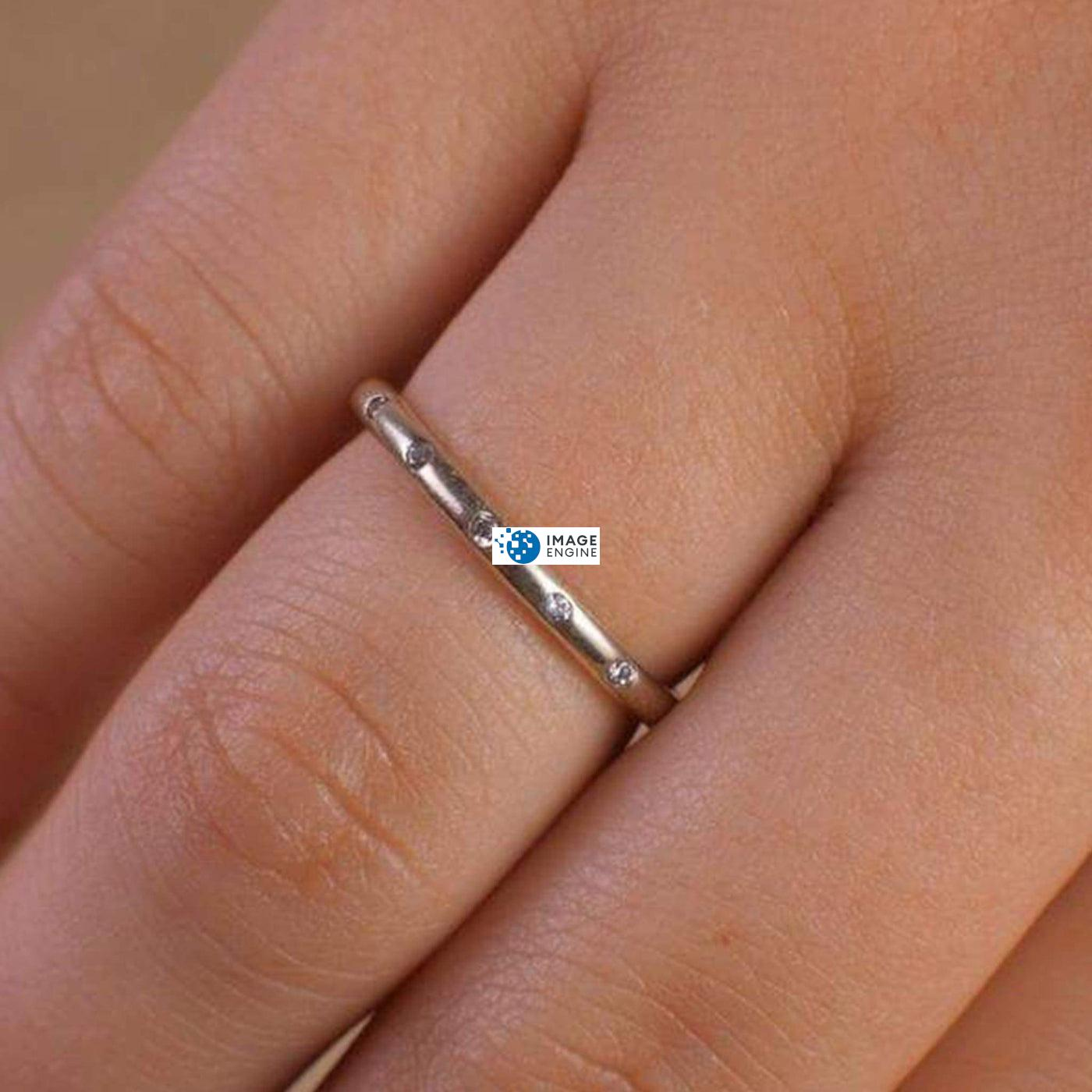 Droplet Ring - Higher Angle View - 925 Sterling Silver