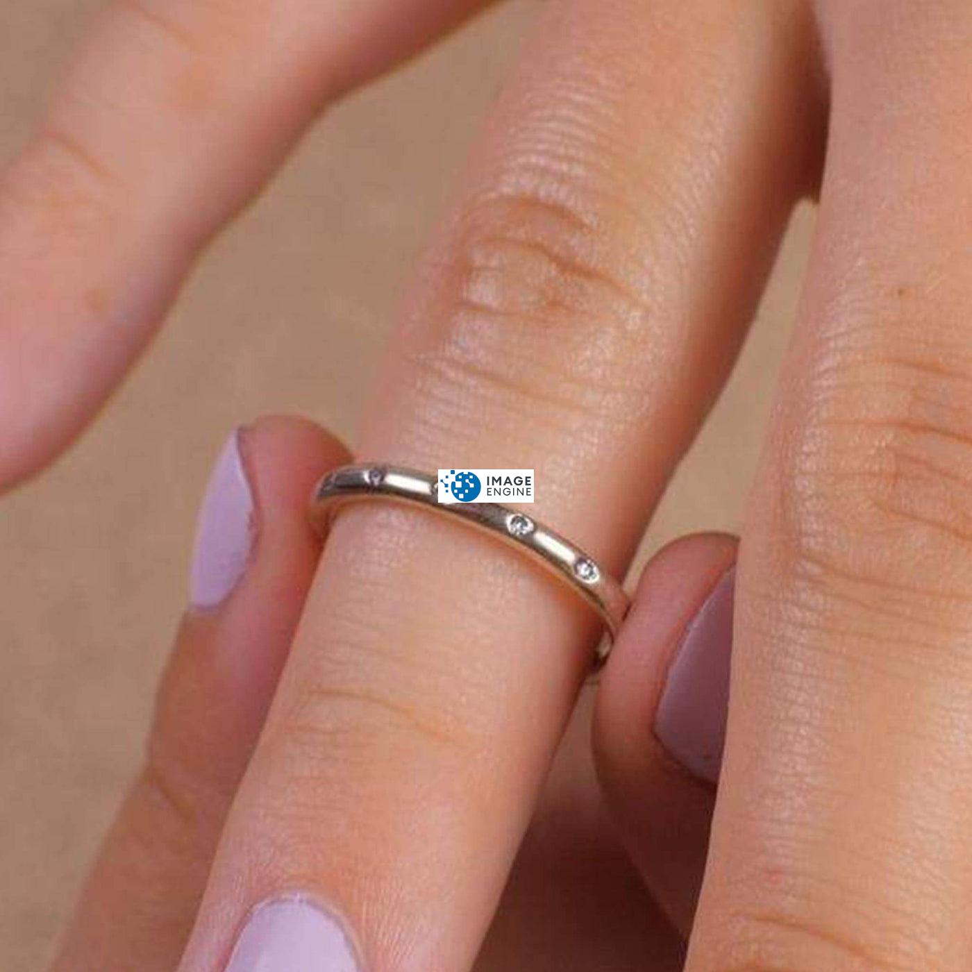 Droplet Ring - Putting On - 925 Sterling Silver