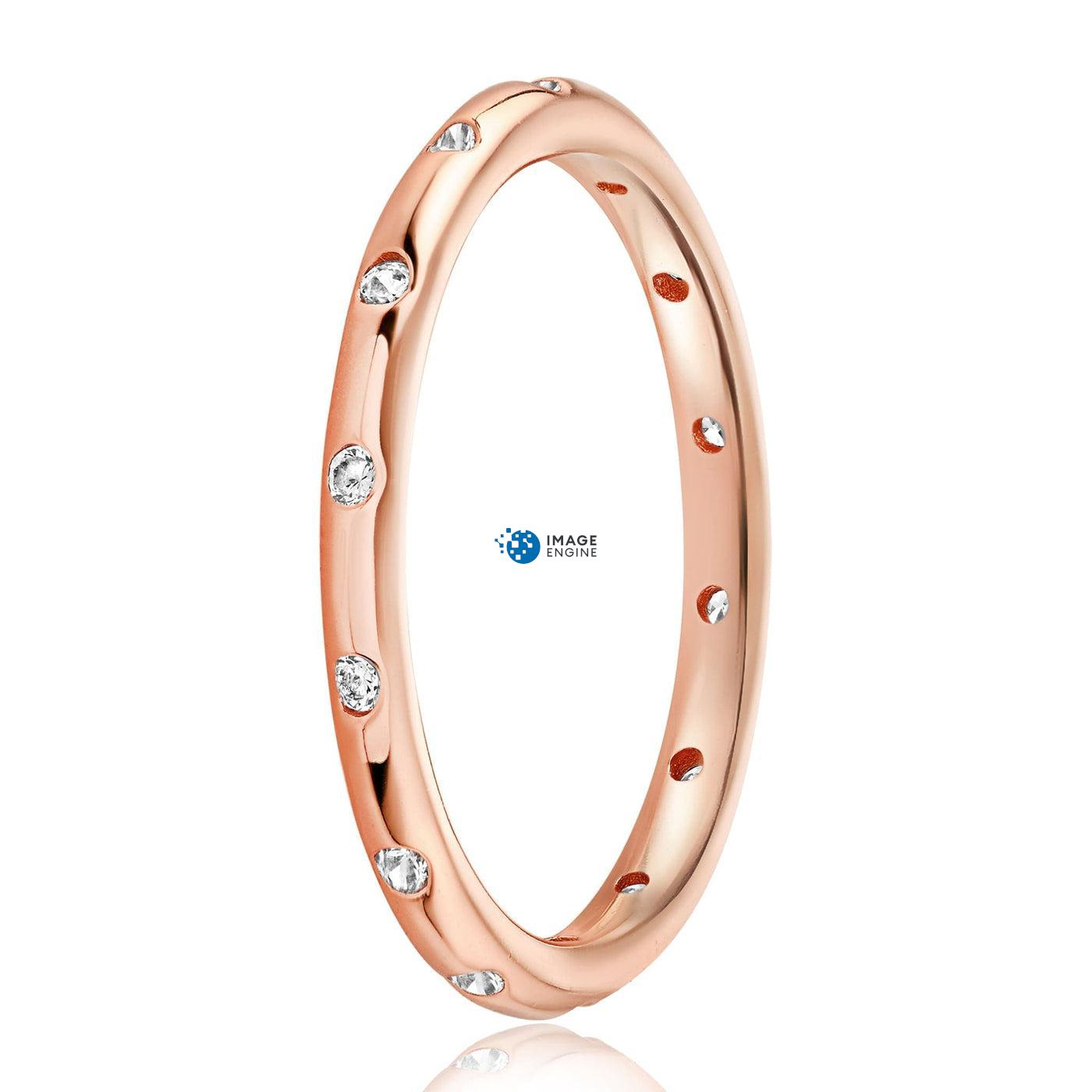 Droplet Ring - Side View - 18K Rose Gold Vermeil