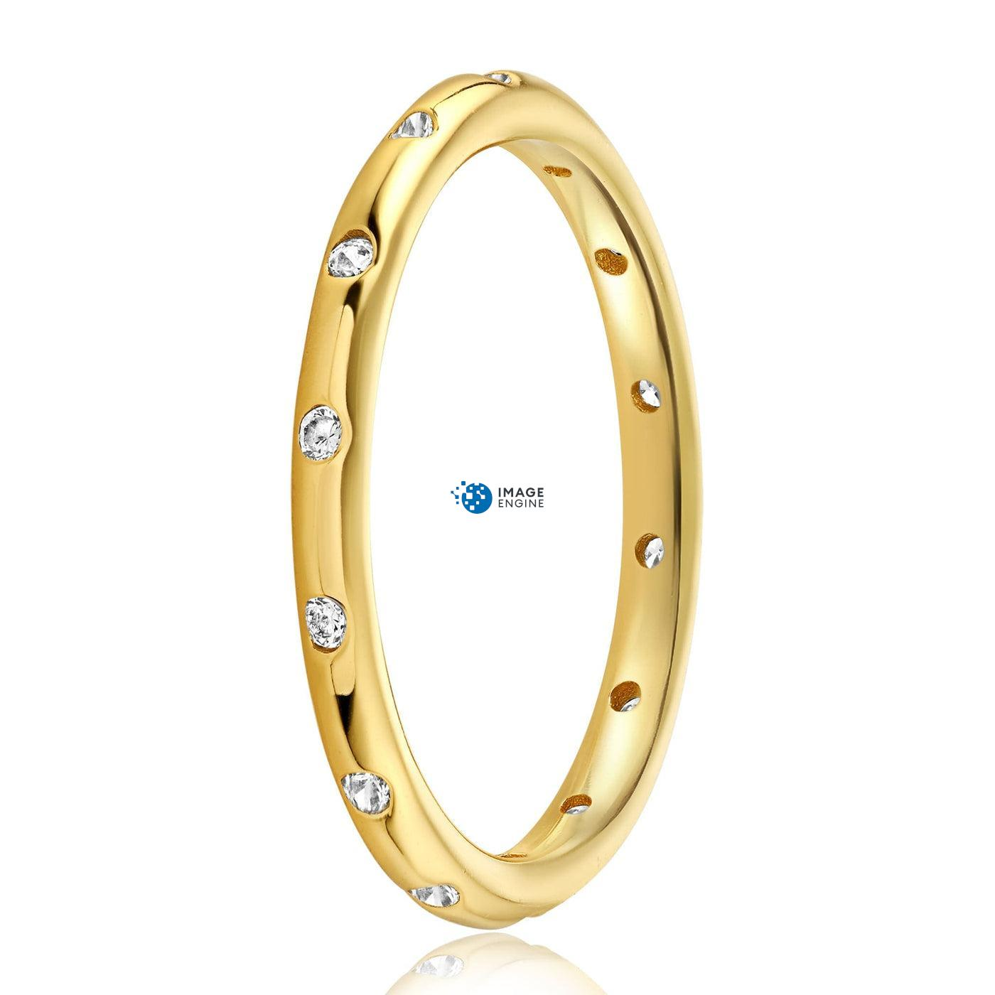 Droplet Ring - Side View - 18K Yellow Gold Vermeil