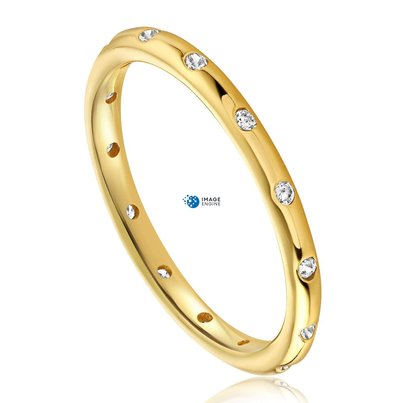 Droplet Ring - Three Quarter View - 18K Yellow Gold Vermeil
