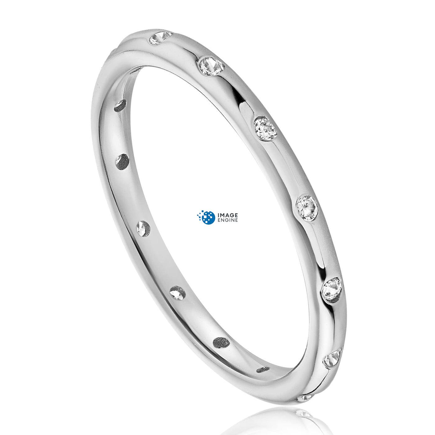 Droplet Ring - Three Quarter View - 925 Sterling Silver