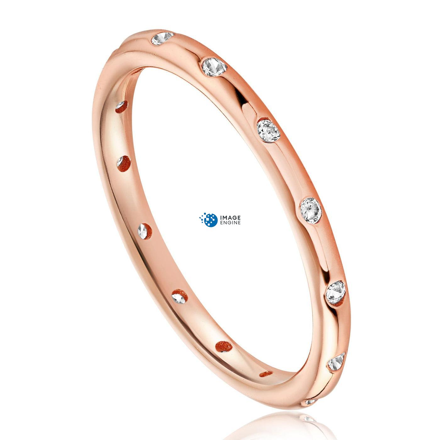 Droplet Ring - Three Quarter View - 18K Rose Gold Vermeil