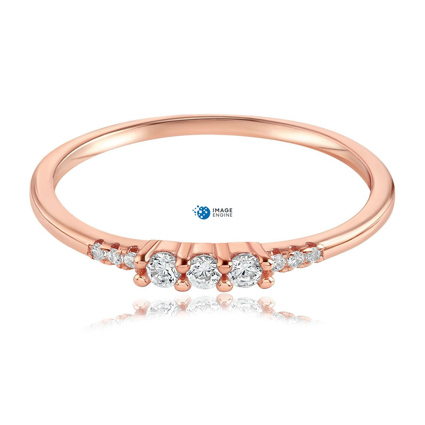 Emie Ring - Three Quarter View - 18K Rose Gold Vermeil