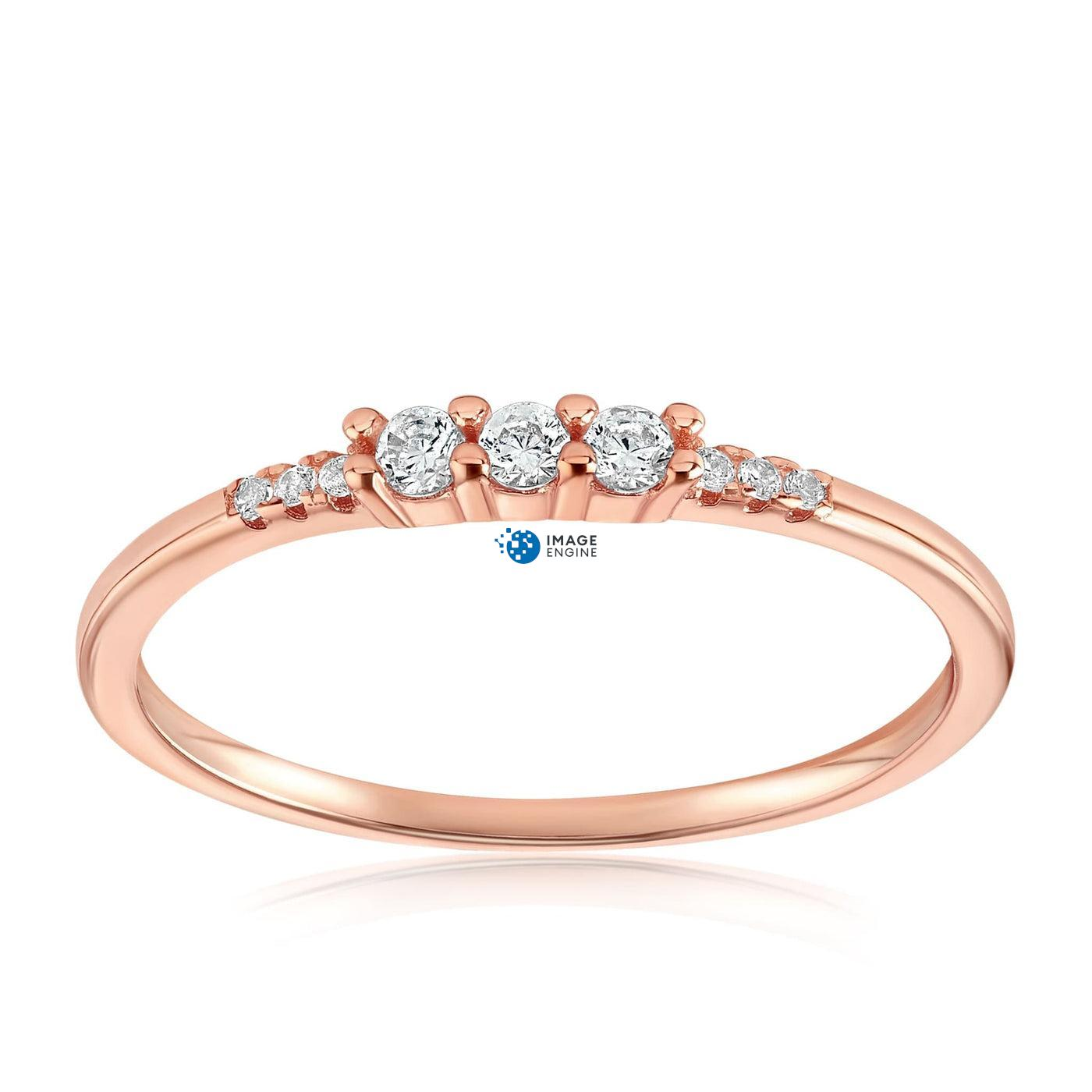Emie Ring - Front View Facing Up - 18K Rose Gold Vermeil