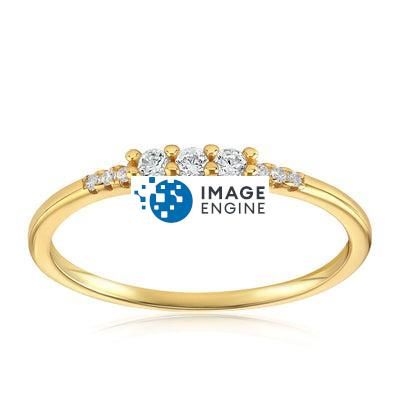 Emie Ring - Front View Facing Up - 18K Yellow Gold Vermeil Featured