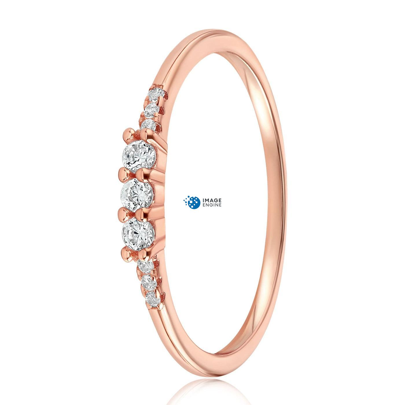 Emie Ring - Side View - 18K Rose Gold Vermeil