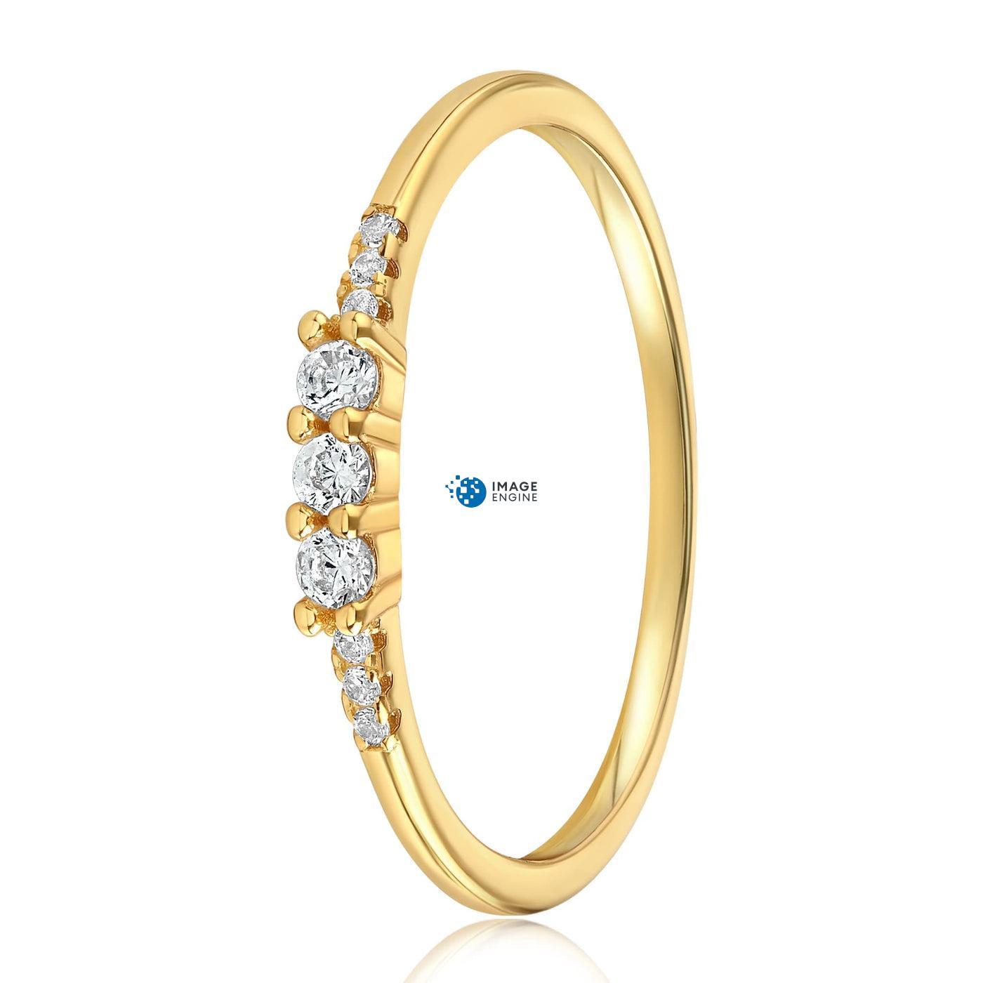 Emie Ring - Side View - 18K Yellow Gold Vermeil
