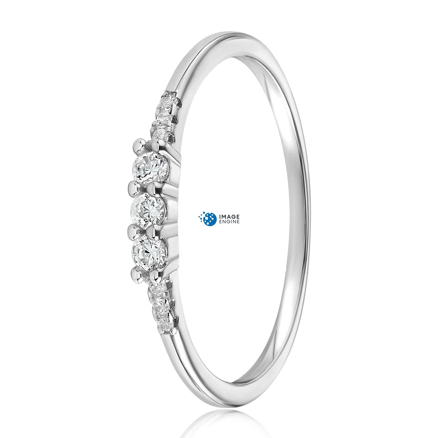 Emie Ring - Side View - 925 Sterling Silver