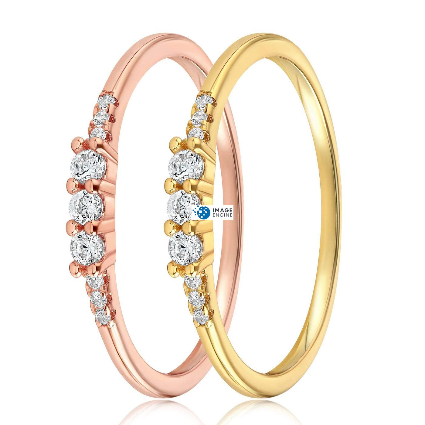 Emie Ring - Side by Side - 18K Yellow Gold Vermeil and 18K Rose Gold Vermeil
