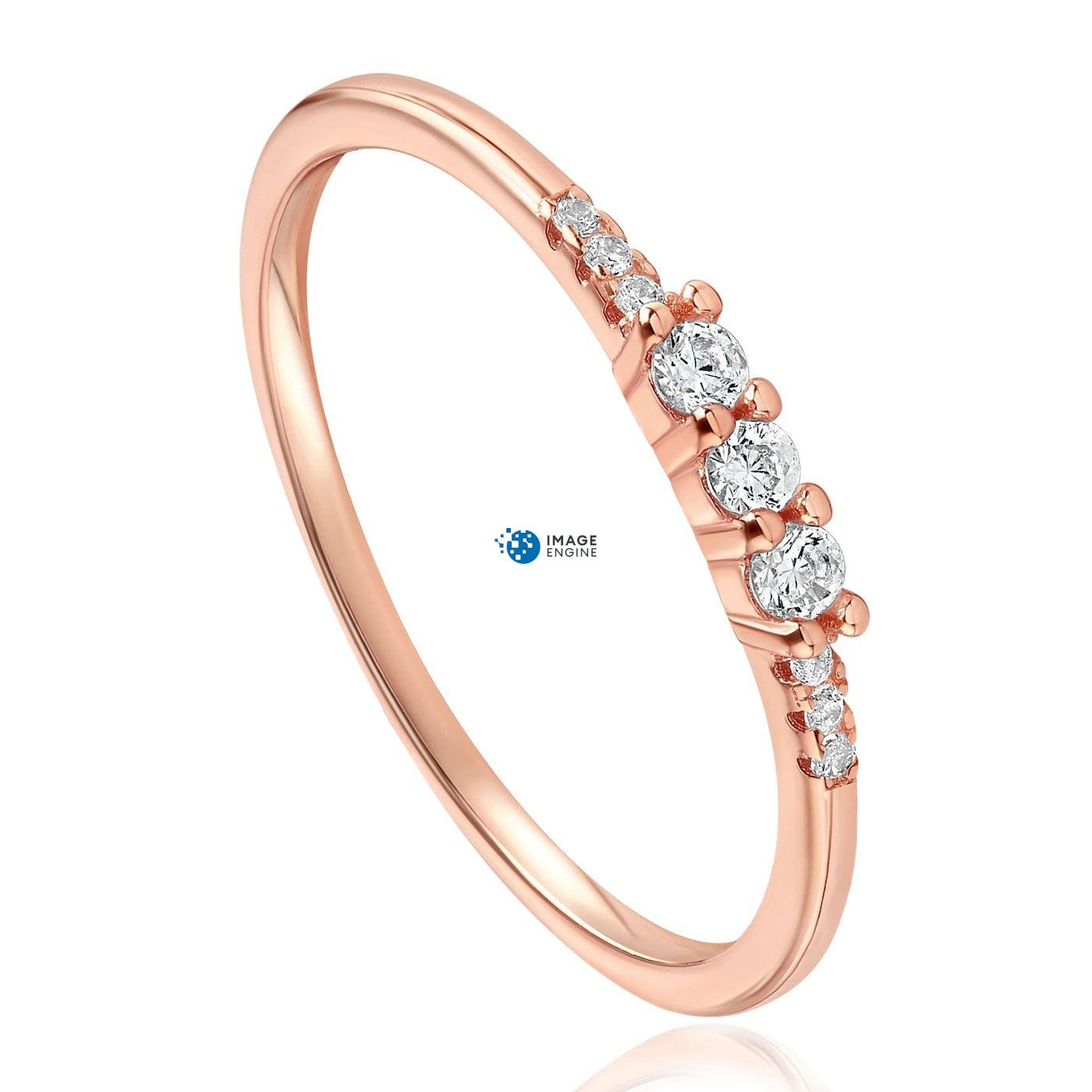 Emie Ring - Front View Facing Down - 18K Rose Gold Vermeil