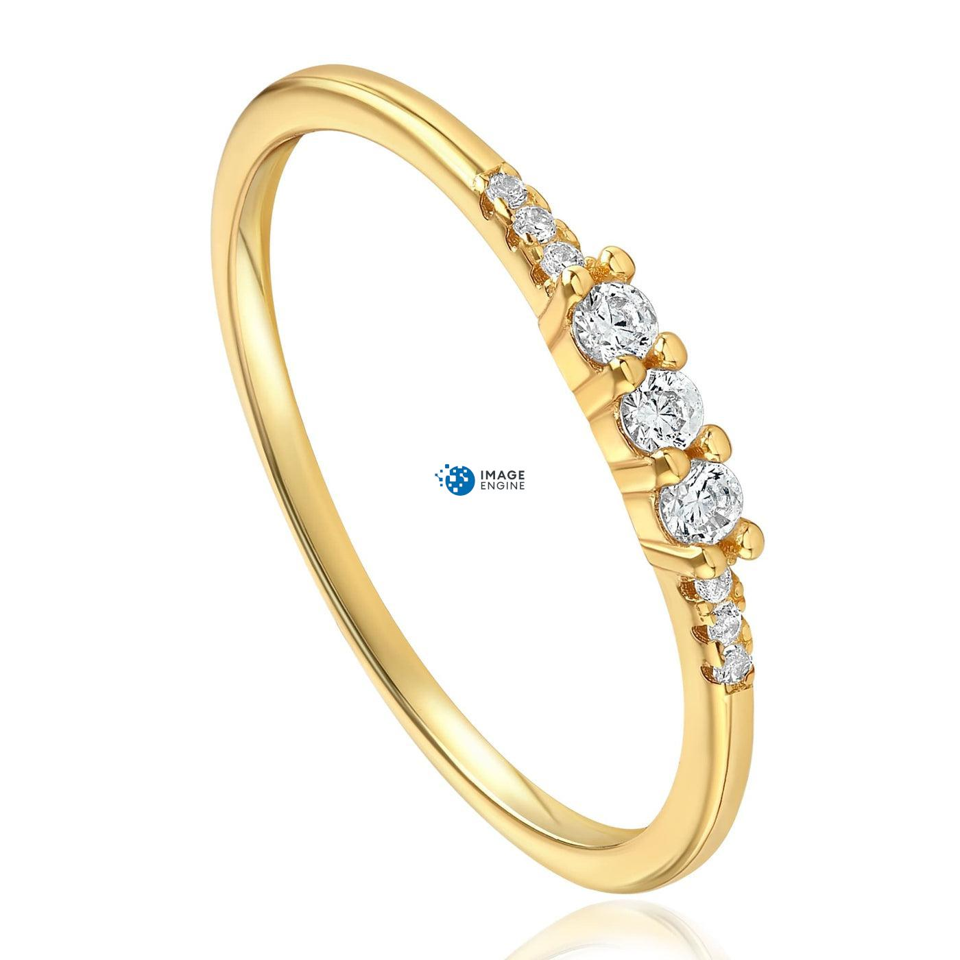 Emie Ring - Three Quarter View - 18K Yellow Gold Vermeil