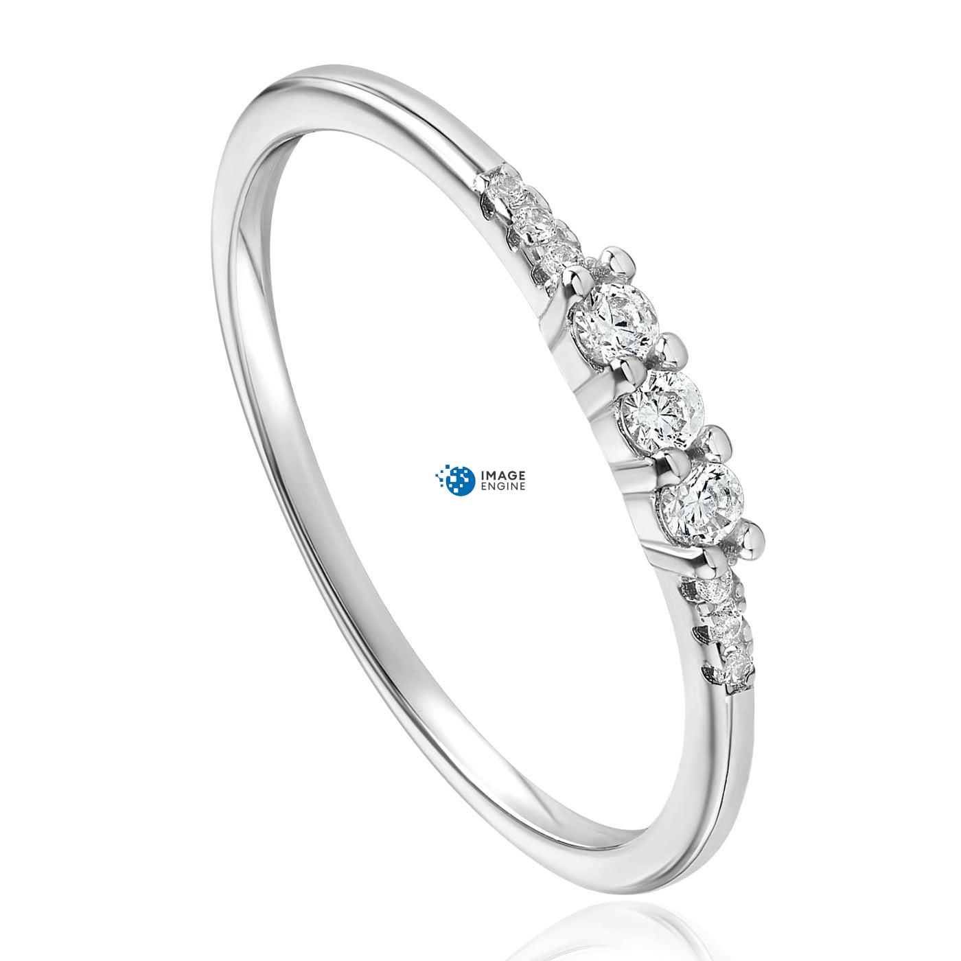 Emie Ring - Three Quarter View - 925 Sterling Silver