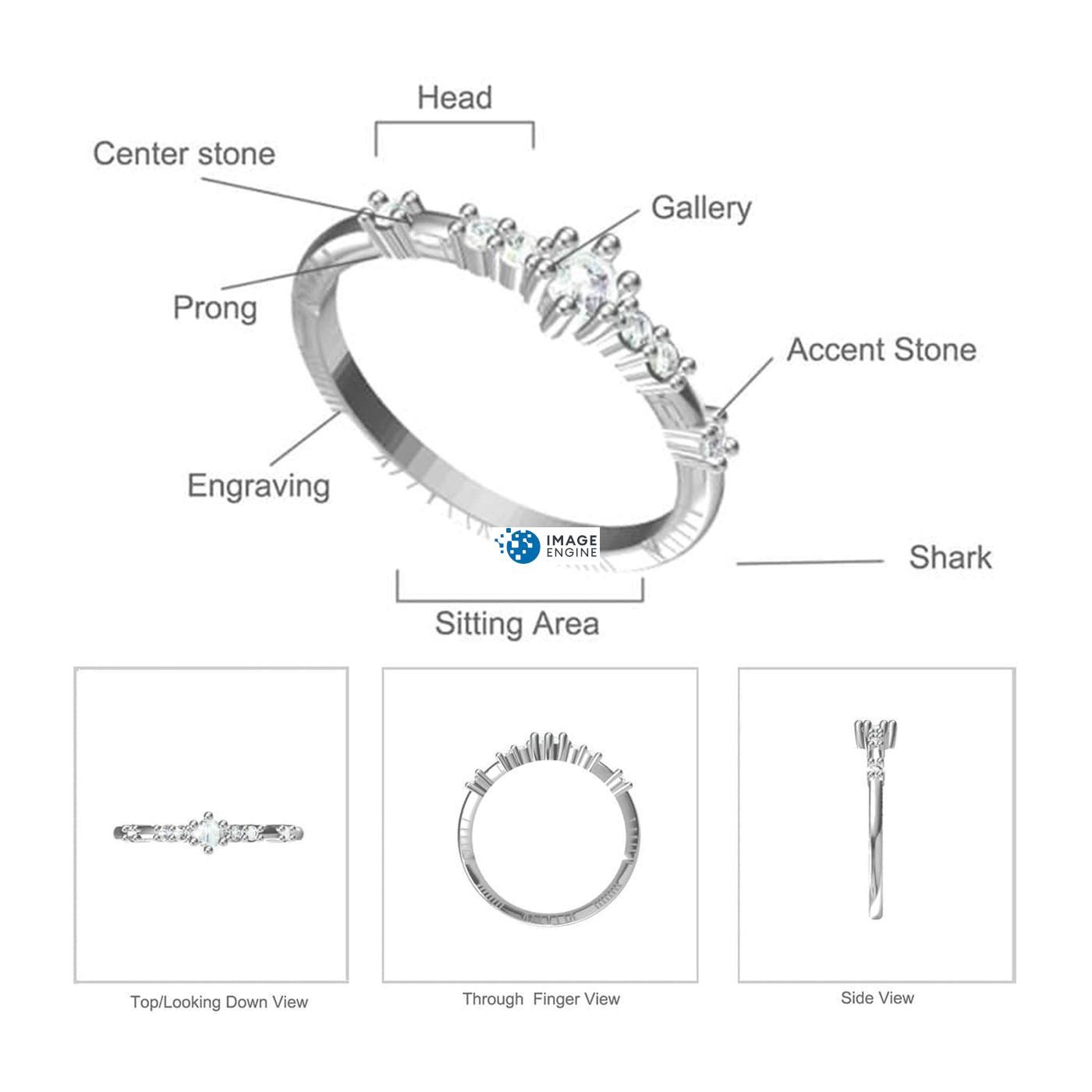 Emma Vintage Ring Diagram and Specifications