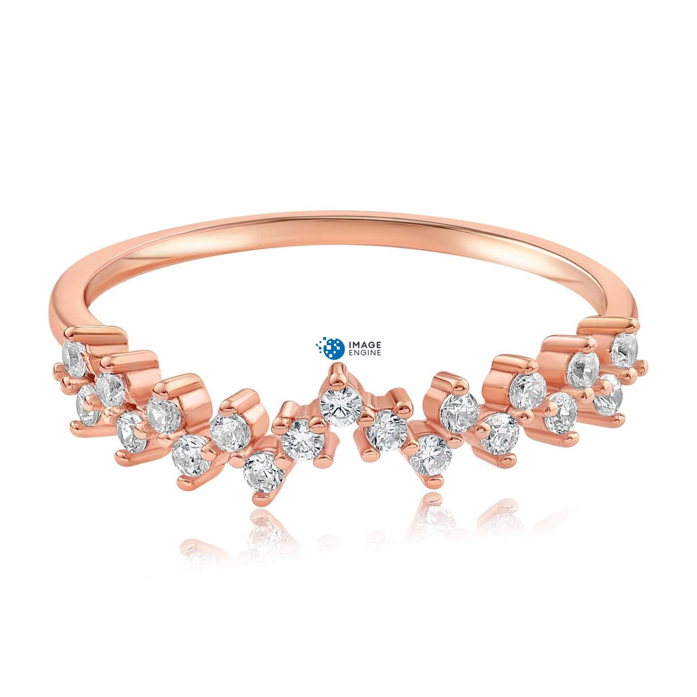 Esther Petite Cluster Ring - Front View Facing Down - 18K Rose Gold Vermeil
