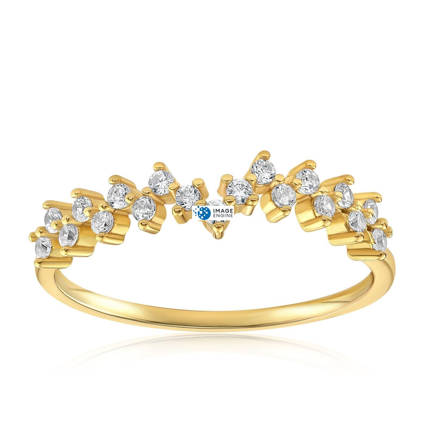 Esther Petite Cluster Ring - Front View Facing Up - 18K Yellow Gold Vermeil