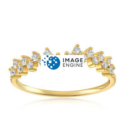 Esther Petite Cluster Ring - Front View Facing Up - 18K Yellow Gold Vermeil Featured