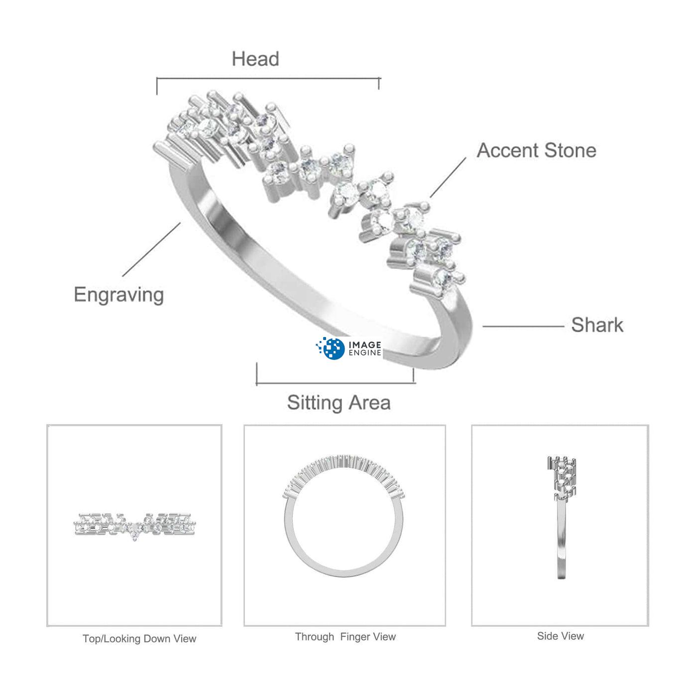 Esther Petite Cluster Ring - Parts - Diagram