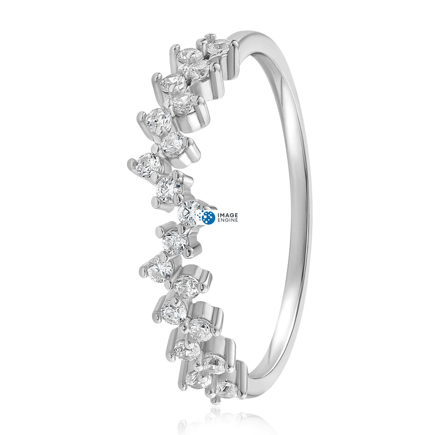 Esther Petite Cluster Ring - Side View - 925 Sterling Silver