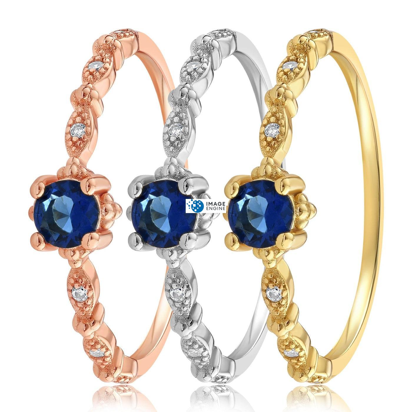 Garen Ring Blue Gemstone - Side by Side - Collection