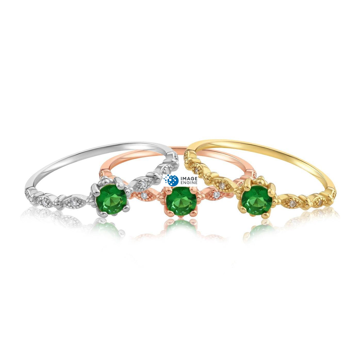 Garen Ring Green Gemstone - Front View - Collection