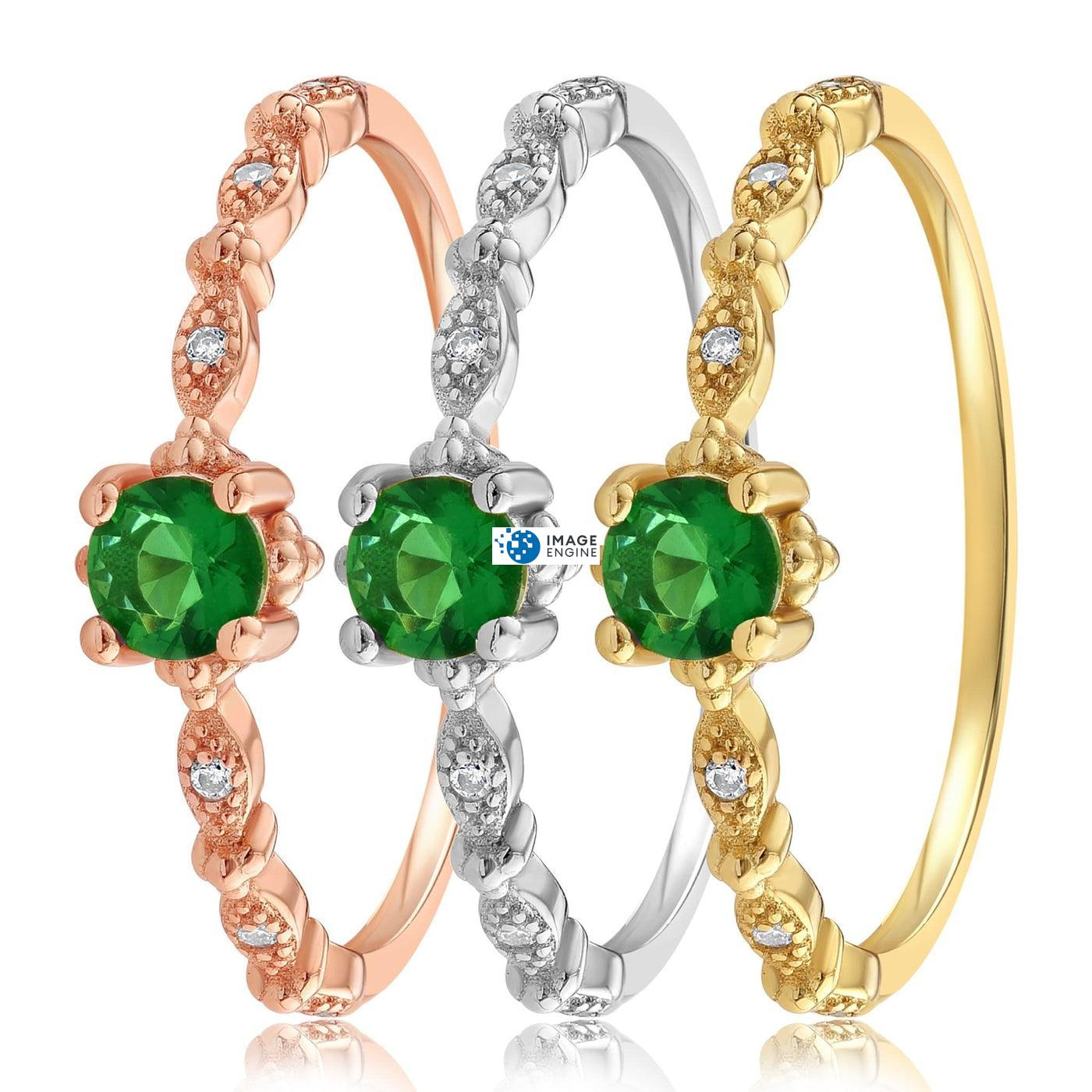 Garen Ring Green Gemstone - Side by Side - Collection