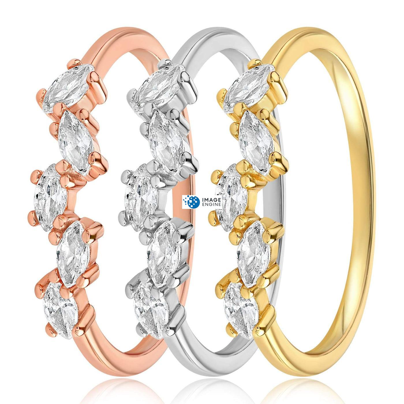 Genna Round Cut Ring - Side by Side - Collection