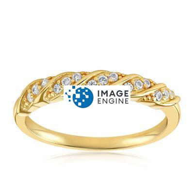 Jessica Simple Ring - Front View Facing Up - 18K Yellow Gold