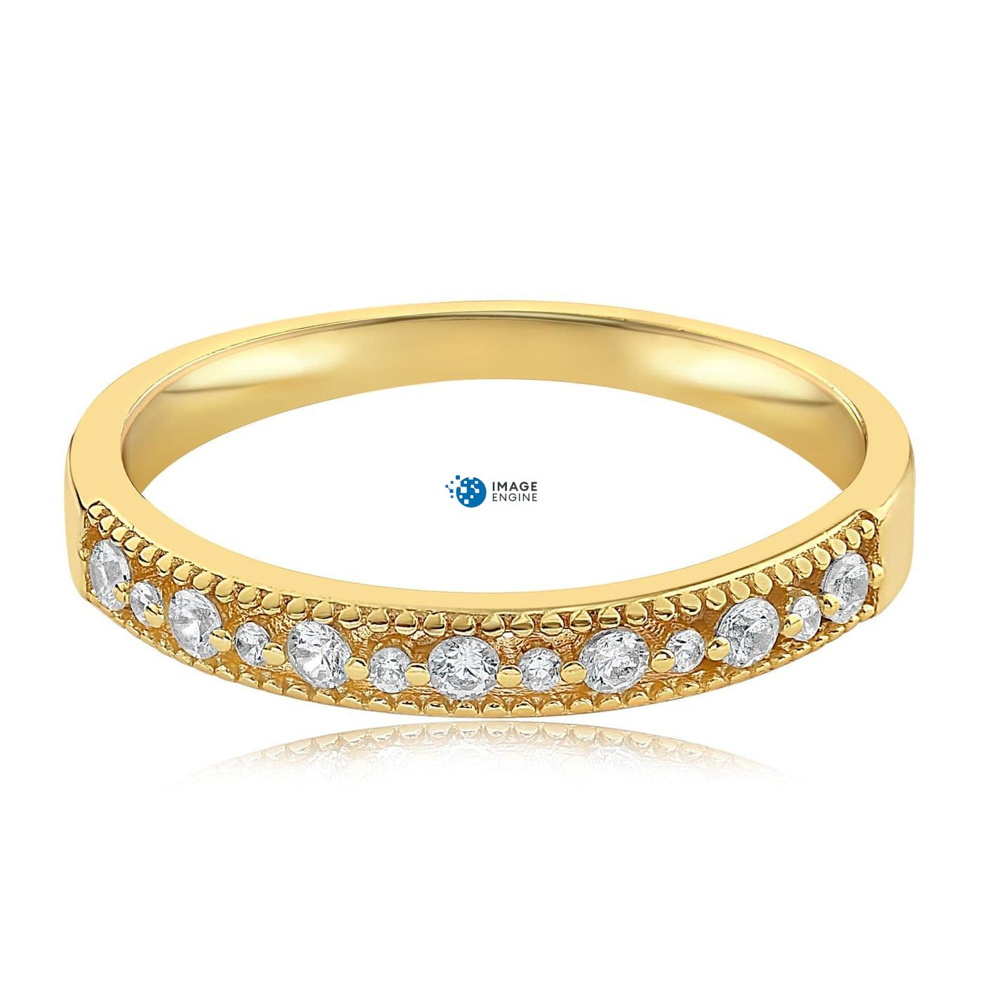Joyce Layered Stack Ring - Front View Facing Down - 18K Yellow Gold Vermeil