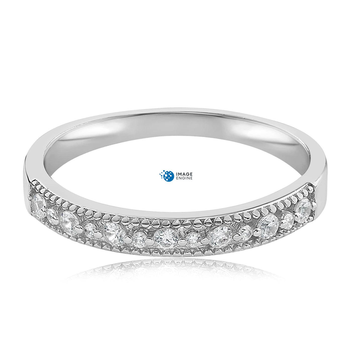 Joyce Layered Stack Ring - Front View Facing Down - 925 Sterling Silver