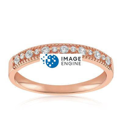 Joyce Layered Stack Ring - Front View Facing Up - 18K Rose Gold Vermeil