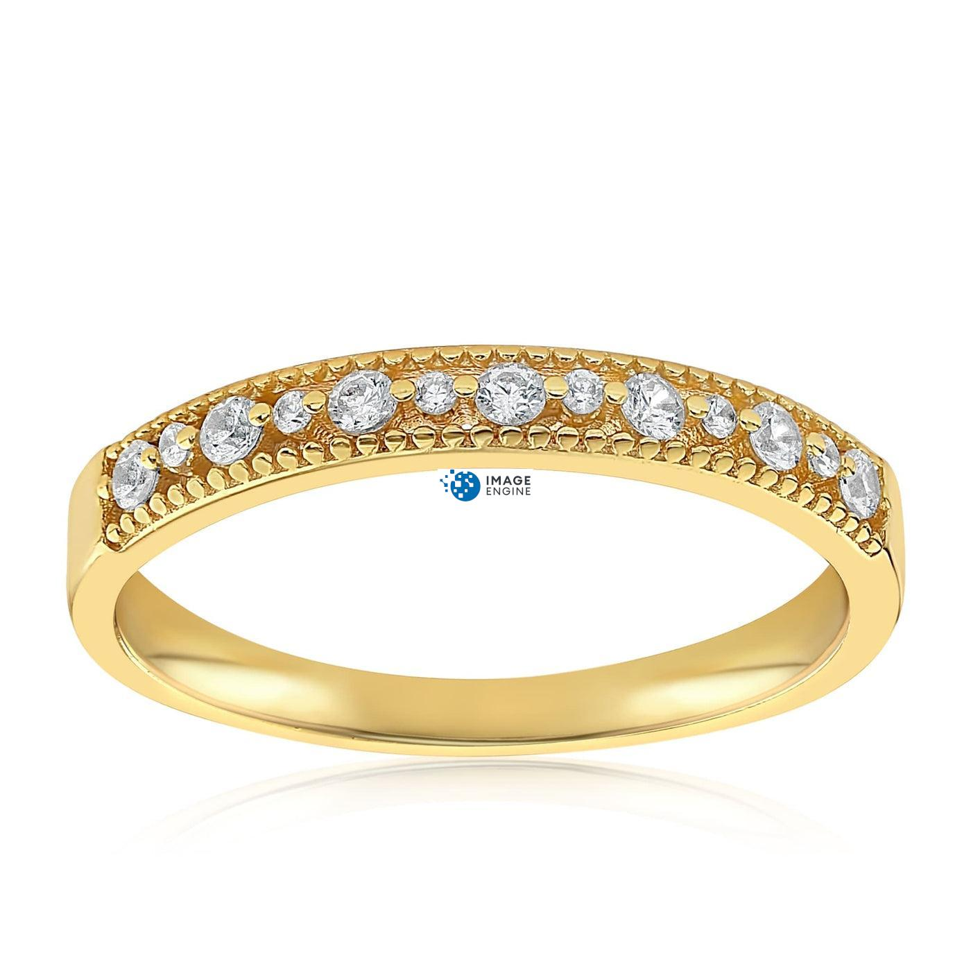 Joyce Layered Stack Ring - Front View Facing Up - 18K Yellow Gold Vermeil Featured